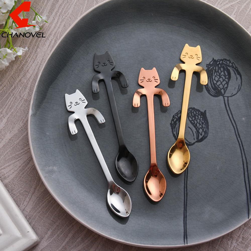 1 pc Stainless Steel Cat Dessert Spoon - Gear Stop Shop