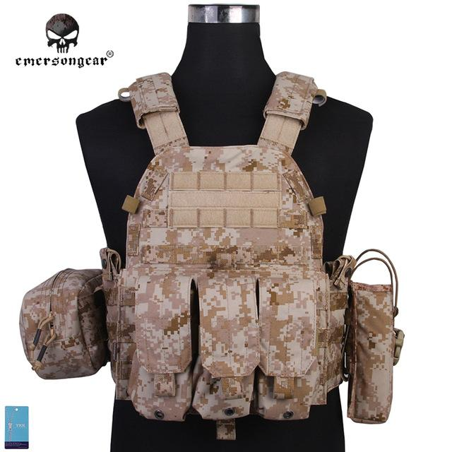 Emerson Mark IV Plate Carrier Tactical Vest with 5 Pouches