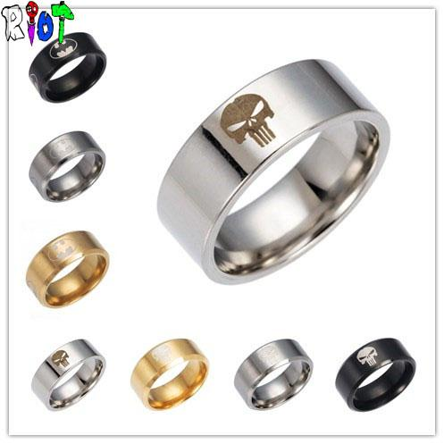 8MM Stainless Steel Punisher Ring - Gear Stop Shop