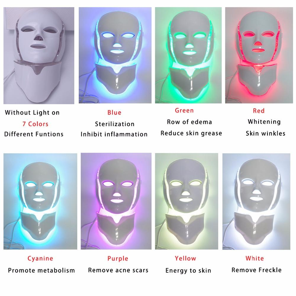 7 Colors Light LED Facial and Neck Mask - Gear Stop Shop