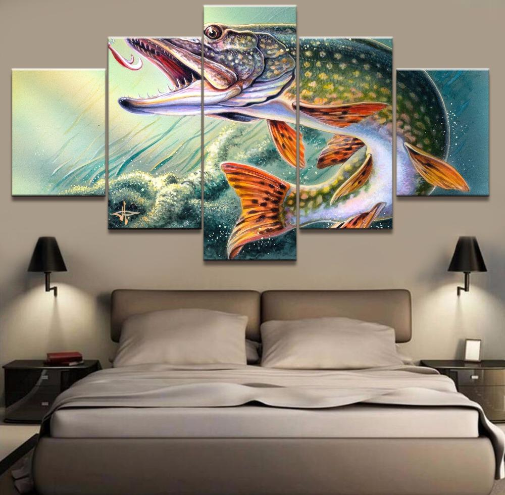 5 Pieces Animal Fishing Hooked Paintings Home Decor - Gear Stop Shop