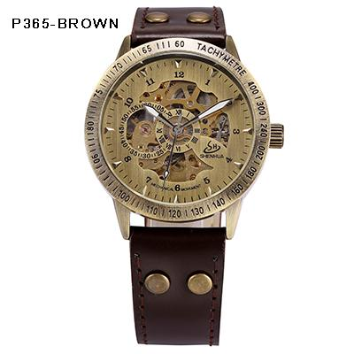 Automatic Mechanical Bronze and Leather Watch - Gear Stop Shop
