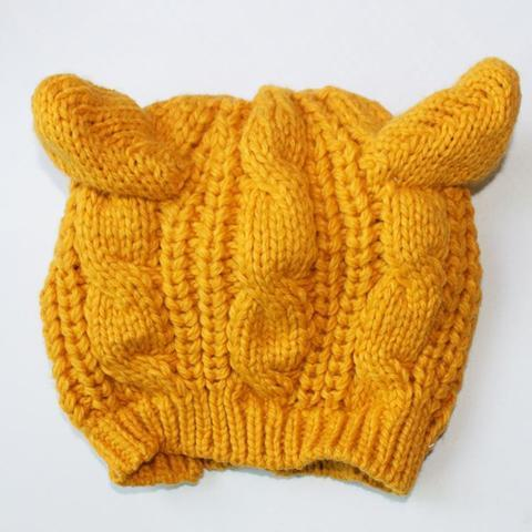 Hand Knitted Cat Ear Beanie Offer