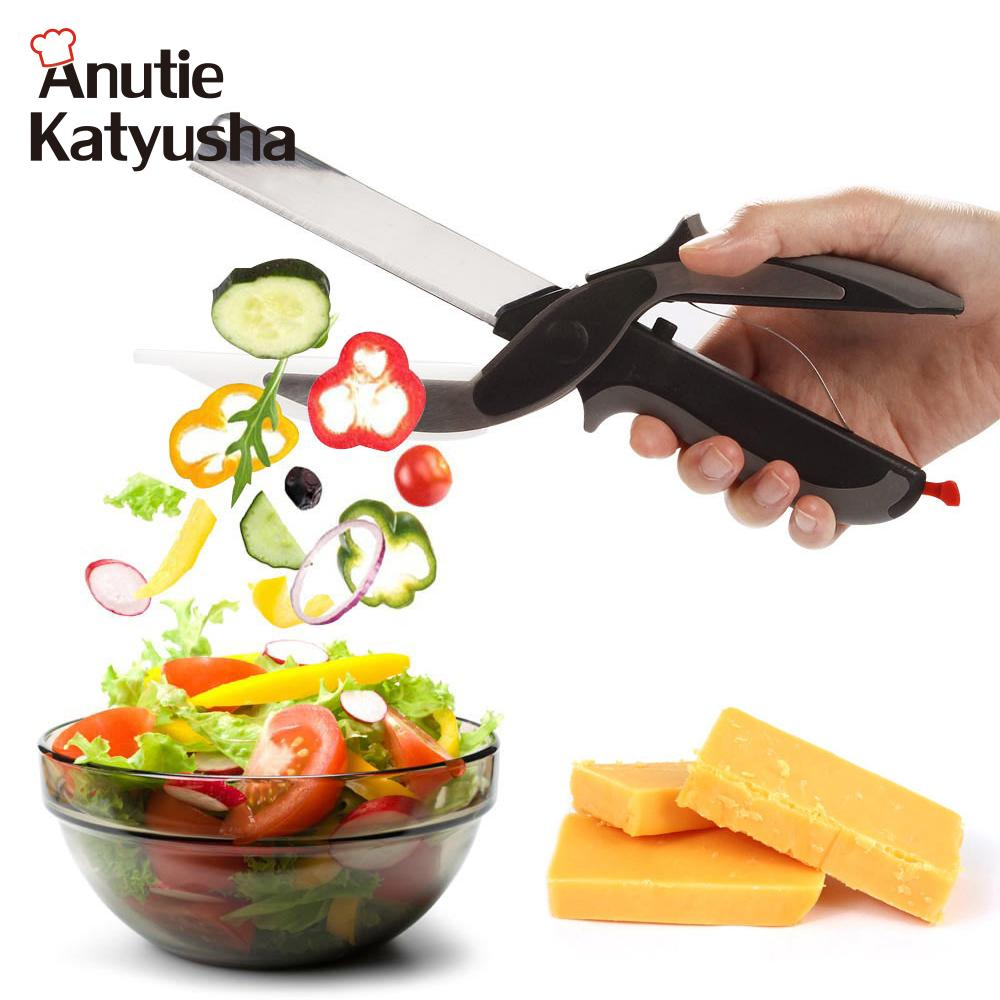 2 In 1 Multi-Function Stainless Steel Kitchen Scissor - Gear Stop Shop