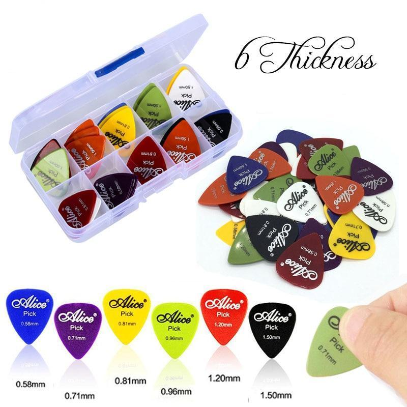 50Pcs/Set Electric Acoustic Pick Guitar  0.58/0.71/0.81/0.96/1.20/1.50mm Thickness - Gear Stop Shop