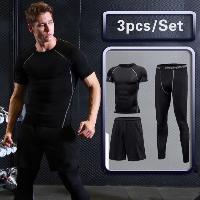 Men's Compression Sportswear Suits Dry Fit