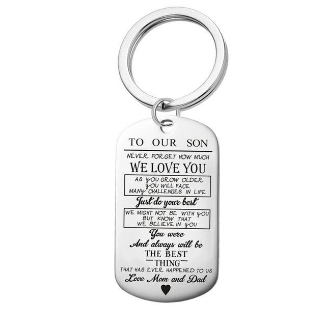To My Son Daughter We Love You Love Dad Mom Necklace Military Army Offer