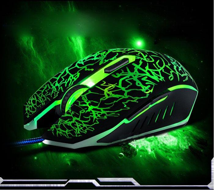 4000DPI Professional Optical Wired Gaming Mouse with Color Changing LED Backlight - Gear Stop Shop