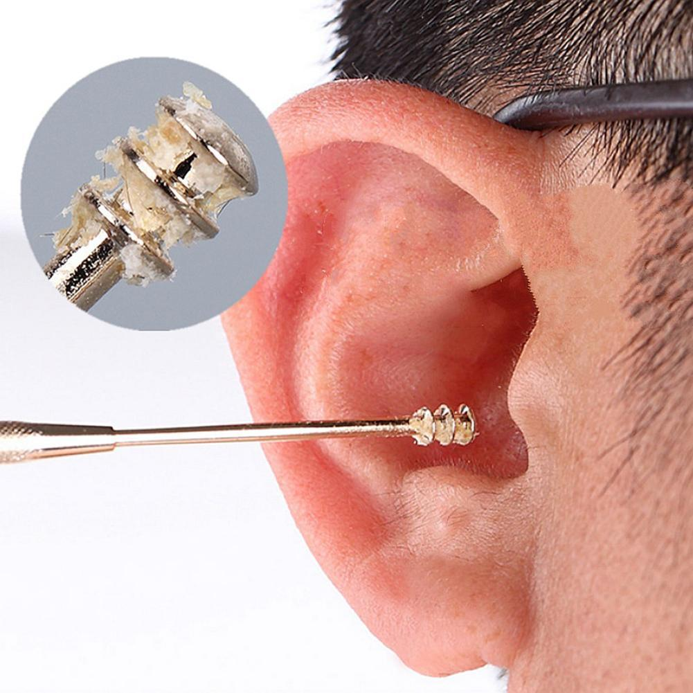 Double-Ended Stainless Steel Spiral Ear Wax Removal