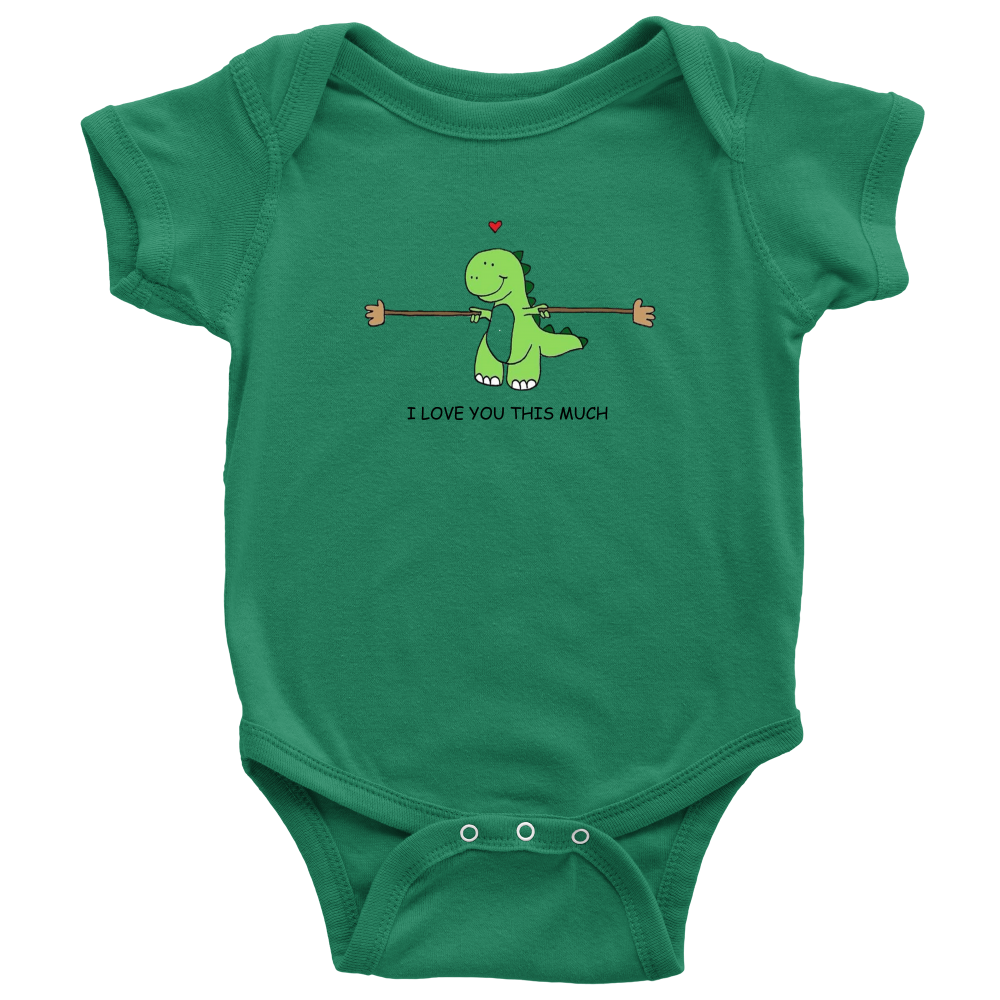 'I Love you this Much Dino' Baby Onesie - Gear Stop Shop