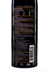 Back of can of SPF50 Minerals Spray