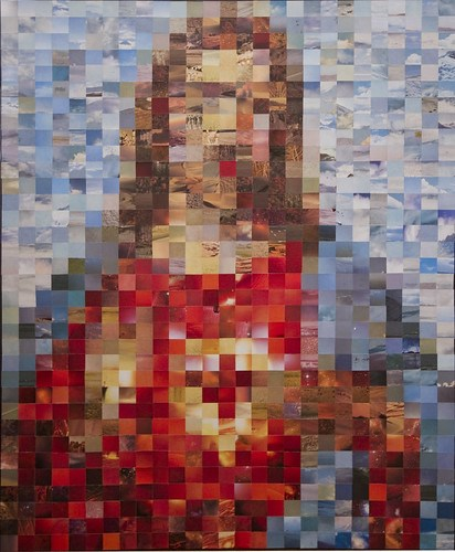 Jesus & Mary pixel collages