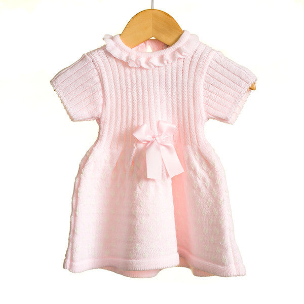 MM0331A - BABY GIRLS SHORT SLEEVE DRESS (6PCS)