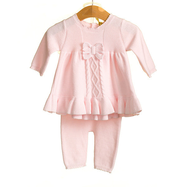 AW - HH0309 - BABY GIRLS LONG SLEEVE DRESS WITH LEGGINGS (6PCS)