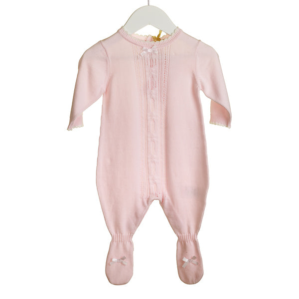 KK0331 - **25% OFF** ROMPER WITH FEET AND CABLE KNIT DETAIL (6 PCS)