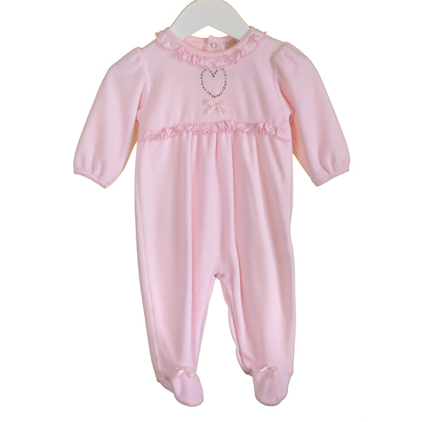 KK0612 - BABY GIRLS VELOUR SLEEPER (6PCS)