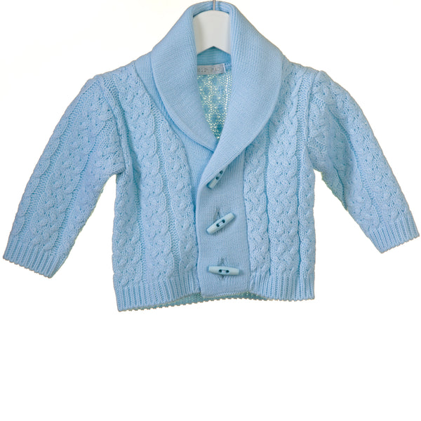 R-KK0658 -BABY BOYS SHAWL COLLAR CARDIGAN
