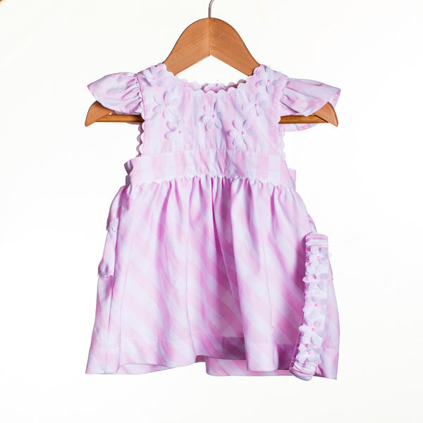 LL0002 - BABY GIRLS DRESS WITH HEADBAND (6PCS)