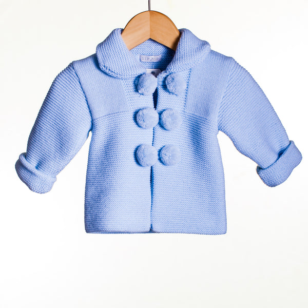 LL0299A - BABY BOYS KNITTED POM POM CARDIGAN (5 PCS)