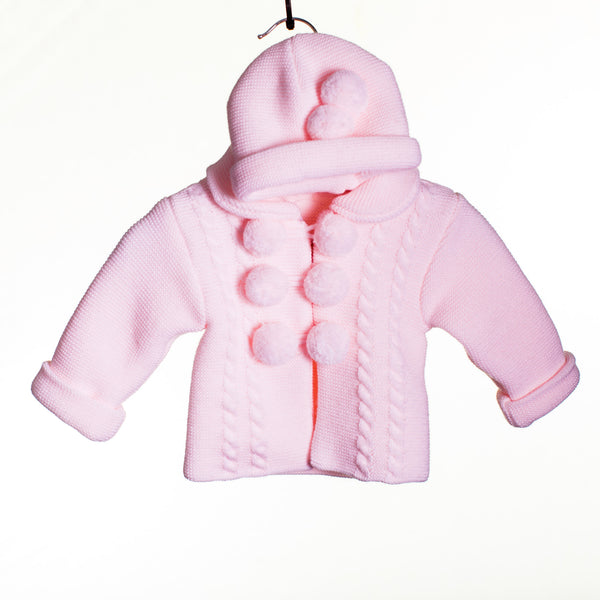 LL0300A - BABY GIRLS KNITTED POM POM CARDIGAN (9 -24M  5 pcs)