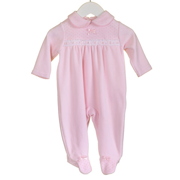 LL0370 - BABY GIRLS VELOUR SLEEPER (6PCS)
