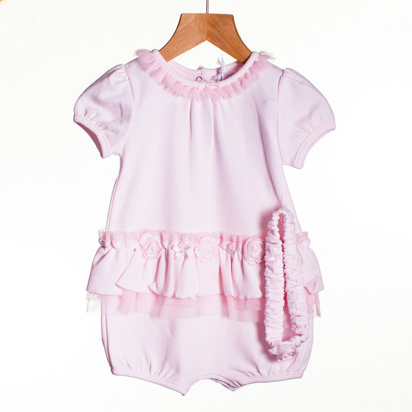 LL0418 - BABY GIRLS ROMPER WITH HEADBAND (6PCS)
