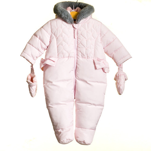 MM0029 - BABY GIRLS QUILTED PADDED SNOWSUIT (6PCS)