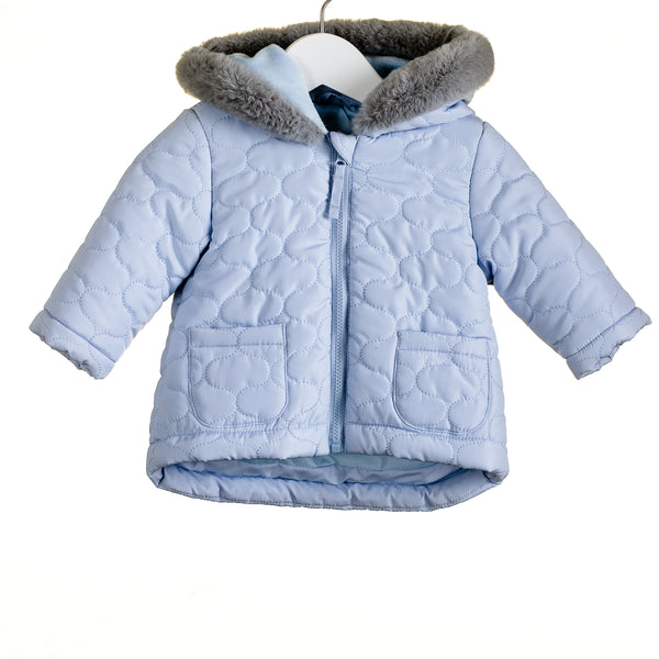 MM0033A - BABY BOYS QUILTED COAT - 12m + 36m ONLY -  (6PCS)
