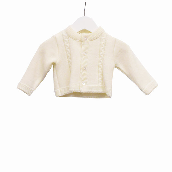 R-MM0179 - BABY UNISEX KNITTED CARDIGAN