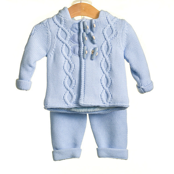 MM0207 - BABY BOYS KNITTED 2 PC CARDIGAN AND TROUSERS **30% OFF** (3 PCS)