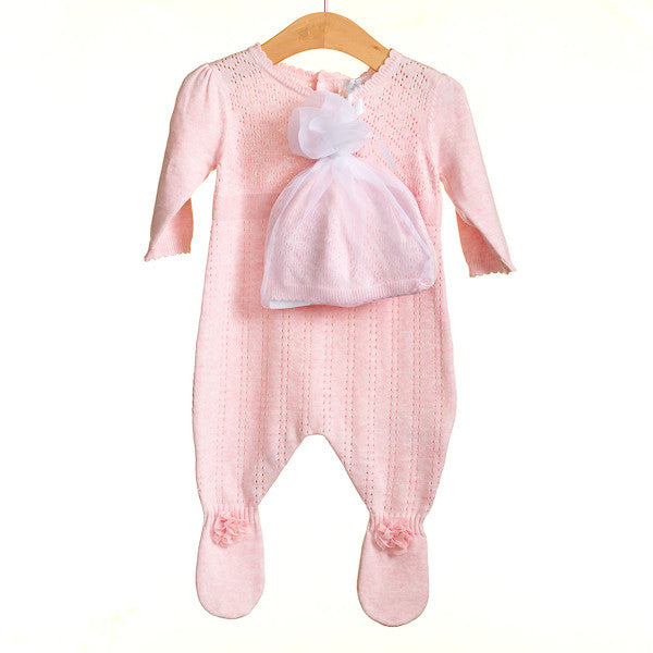 MM0213 - BABY GIRLS 2 PC ROMPER AND HAT (6PCS)