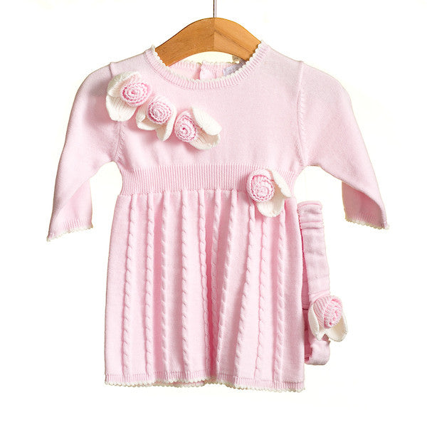 MM0219A - BABY GIRLS 2 PC DRESS AND HEADBAND SET (6PCS)