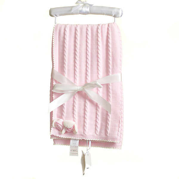MM0221 - BABY GIRLS KNITTED SHAWL (6PCS)