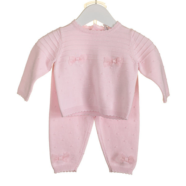 MM0224A - BABY GIRLS KNITTED 2 PC SET (6PCS) SALE
