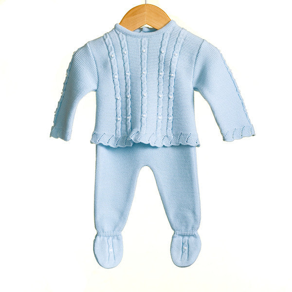 MM0300 - BABY BOYS KNITTED 2 PC SET JUMPER AND TROUSERS (1m + 9m ONLY) - (6 PCS)