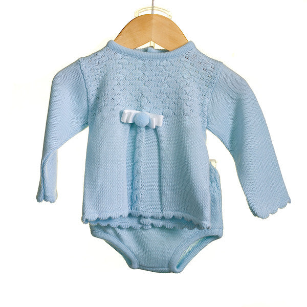 AW - MM0307 - BABY BOYS KNITTED 2 PC TOP AND KNICKERS SET (6 PCS)