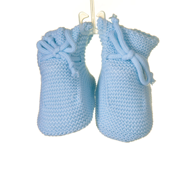 MM0313 - BABY BOYS KNITTED BOOTIES (6PCS)