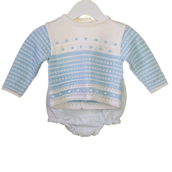 R-MM0336 -BABY BOYS KNITTED 2 PC SET JUMPER AND JAM PANTS