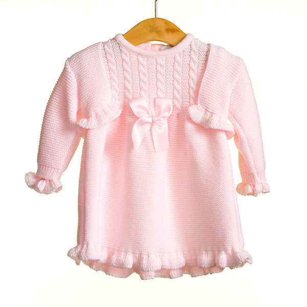 MM0344 - **25% OFF** BABY GIRLS 2 PC DRESS AND CARDIGAN SET (6PCS)