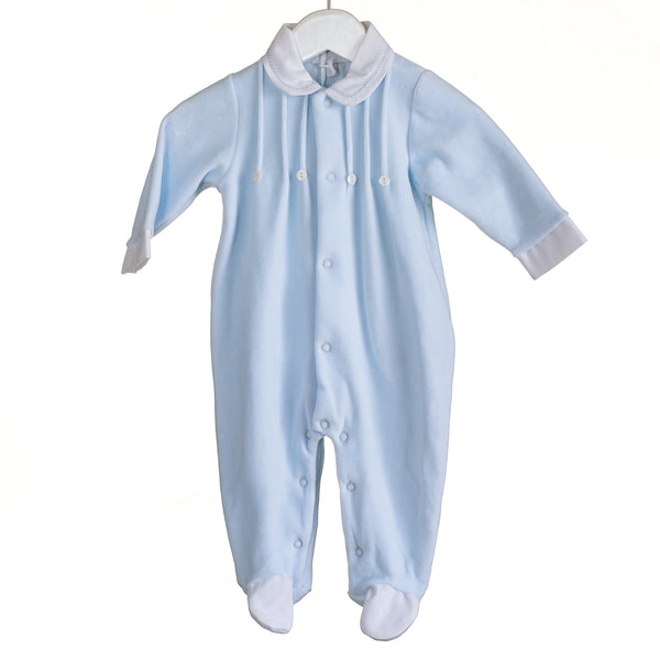 MM0351A - BABY BOYS VELOUR SLEEPER (6PCS) SALE