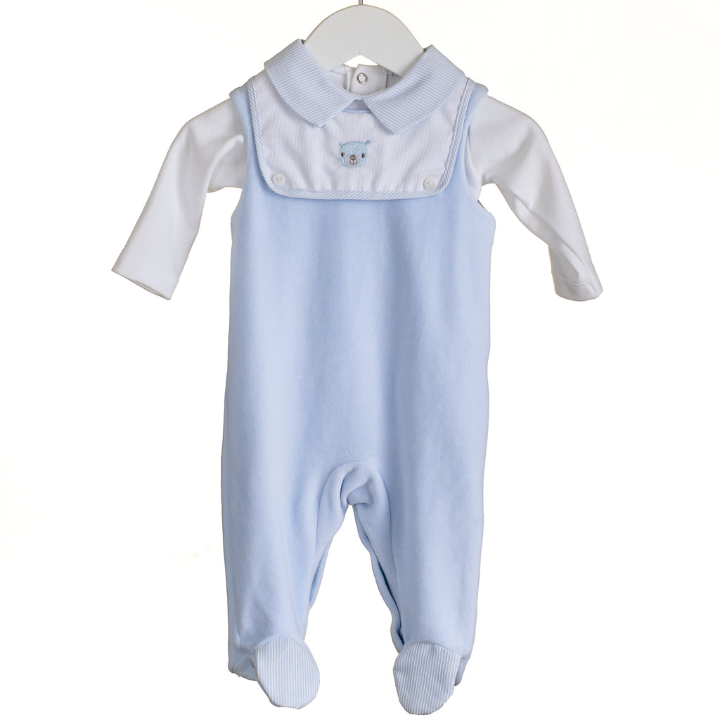 MM0358 - BABY BOYS 3PC DUNGAREE SET (6 PCS)