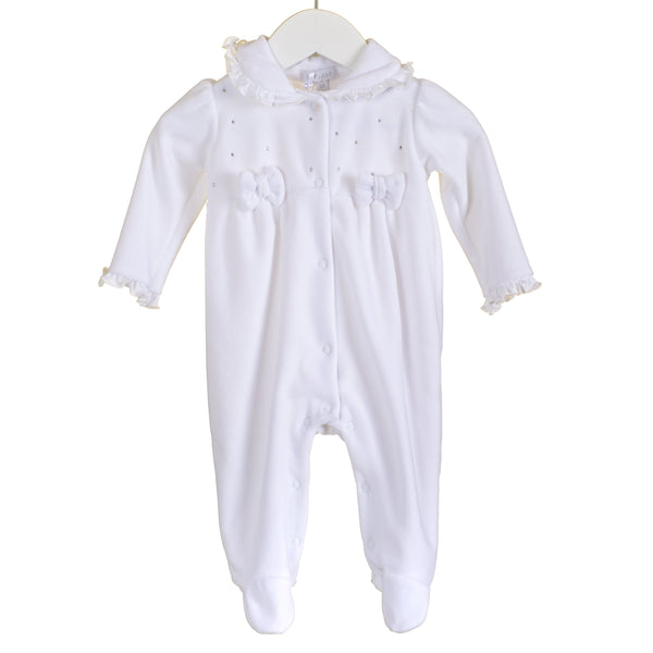 R-MM0367A - WHITE UNISEX VELOUR SLEEPER