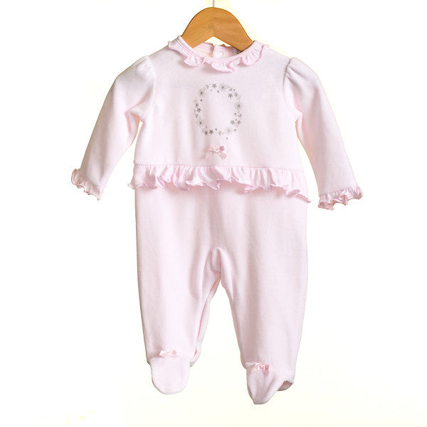 MM0370 - BABY GIRLS VELOUR SLEEPER (6PCS)