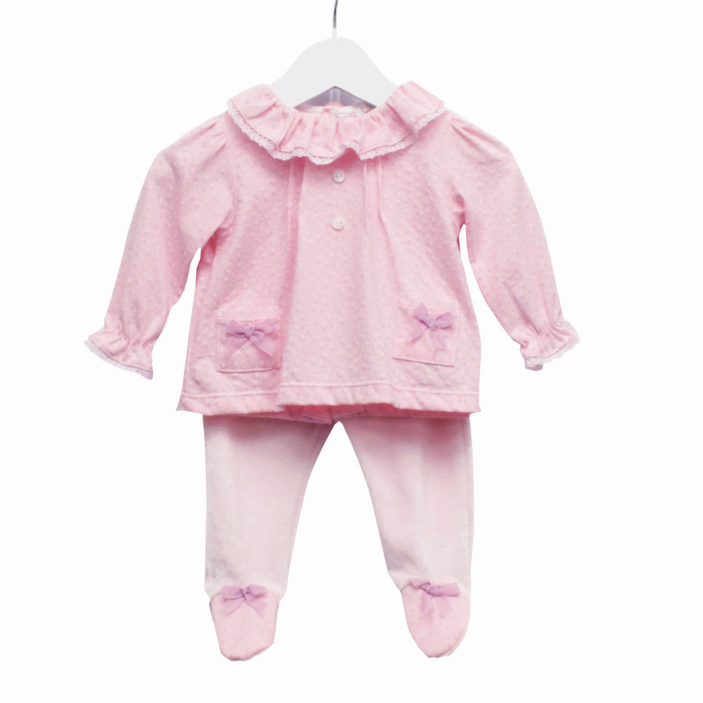 MM0371 - BABY GIRLS 2 PC SET TOP AND TROUSERS **30% OFF** (6PCS)