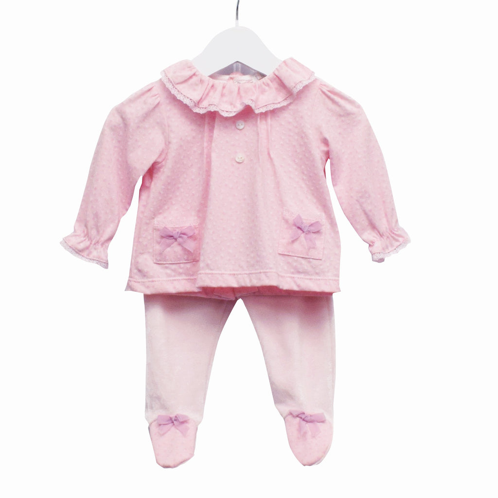 R-MM0371 - BABY GIRLS 2 PC SET TOP AND TROUSERS