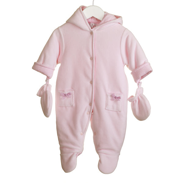 MM0374 - BABY GIRLS VELOUR PRAMSUIT (6PCS)