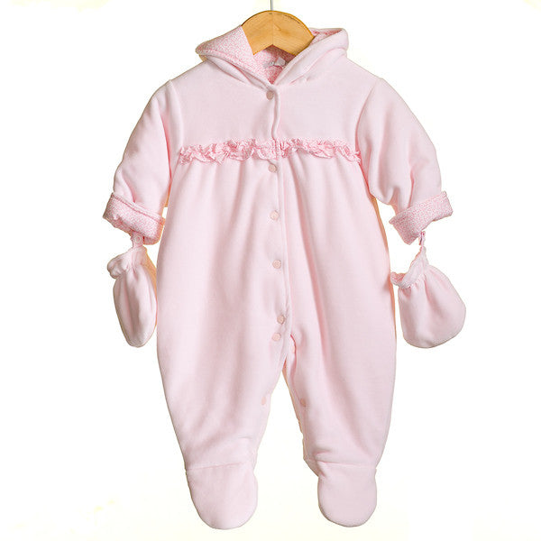 MM0377 - BABY GIRLS VELOUR PRAMSUIT (6PCS)