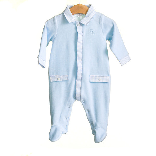 MM0379A - BABY BOYS VELOUR SLEEPER (6PCS)