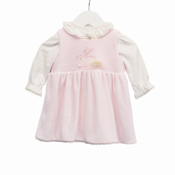 R-MM0391 - BABY GIRLS 2 PC BODYSUIT AND PINAFORE