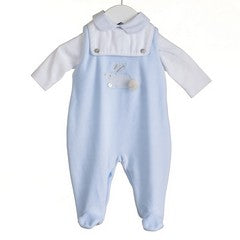 MM0394 - BABY BOYS 2 PC BODYSUIT AND DUNGAREE SET (6 PCS)